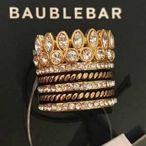 Bauble Bar Charlotte Stack Ring Size 6